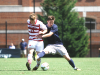 CHRIS GRIVAS/THE HOYA Sophomore forward Alex Muyl scored twice in the 4-1 win over Wisconsin. The Hoyas went 2-0 over the weekend, outscoring their opponents 6-1.