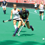 FILE PHOTO: CHRIS GRIVAS/ THE HOYA  Junior Midfielder Emily Weinberg