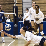 FILE PHOTO: ALEXANDER BROWN/THE HOYA Junior Outside Hitter Lauren Saar