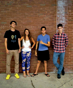 COURTESY SAM RICCIARDI From left to right, Angelo Angelino (SFS '17), Adriana Kranjac (COL '17), President Sam Ricciardi (COL '17), and Justin Kotwicki (COL '17) share their love for dance music.