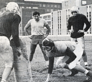 COURTESY GEORGETOWN UNIVERSITY ARCHIVES Bill Nash trains intramural players.