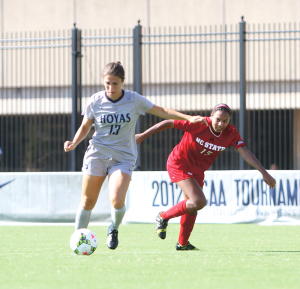 CHRIS GRIVAS/THE HOYA Senior Striker Vanessa Skrumbis
