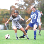 FILE PHOTO: CHRIS GRIVAS/THE HOYA Junior Forward Sarah Adams