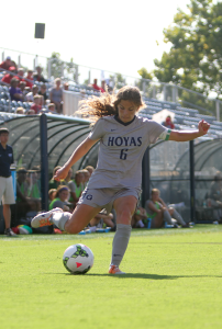 CHRIS GRIVAS/THE HOYA Senior Midfielder Daphne Corboz