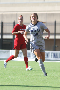 CHRIS GRIVAS/THE HOYA Freshman Midfielder Rachel Corboz