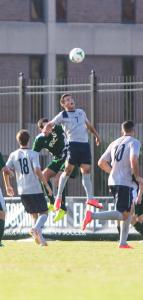 JULIA HENNRIKUS/THE HOYA Freshman midfielder Arun Basjulevic has two goals this season.