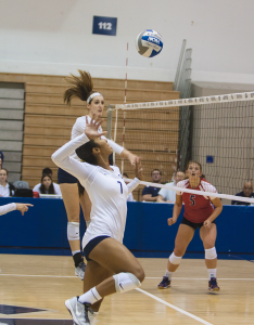 FILE PHOTO: MICHELLE XU/THE HOYA Sophomore blocker Ashlie Williams won the tournament MVP award.