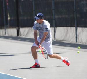 FILE PHOTO: MICHELLE XU/THE HOYA Junior Daniel Khanin went 4-6 last season in singles play for Georgetown. He was 4-2 in doubles in the fall.