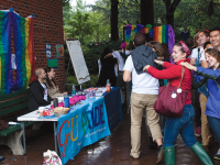 FILE PHOTO: MICHELLE XU/THE HOYA OUTober, celebrating LGBTQ identity, will be one of several heritage months to receive $500 or more in  funding from the Office of the President for cultural programming this year.