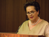 FILE PHOTO: MICHELLE LUBERTO FOR THE HOYA Claudia Fritsche, Liechtenstein's ambassador to the United States, remarked on the changes she has noted in her 40-year career in foreign service.