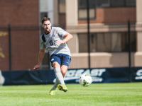 FILE PHOTO: JULIA HENNRIKUS/THE HOYA Senior midfielder and co-captain Tyler Rudy has two goals on the season and has started all 11 games. He has helped the Hoyas to six shutouts.