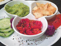 JIWON NOH FOR THE HOYA  Sabra, the well-known hummus brand has opened a temporary restaurant on Wisconsin Avenue. Hurry in to try dishes like the hummus plate.