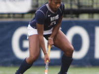 FILE PHOTO: JULIA HENNRIKUS/THE HOYA Junior midfielder Emily Weinberg scored a brace of goals in Georgetown's 3-0 home victory over the Colgate Raiders on Sunday.