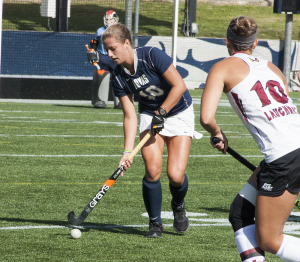 FILE PHOTO: ISABEL BINAMIRA FOR THE HOYA Sophomore defender Devin Holmes has started all 16 games this season. She has one goal and two assists, along with two defensive saves this year.