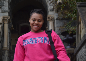 ERICA WONG/THE HOYA Rashema Melson (COL '18) has settled in on the Hilltop.