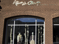 DANIEL SMITH/THE HOYA Alice and Olivia, an upscale retail chain, recently opened in Georgetown. The store is located in Qdoba's former space.