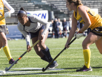 FILE PHOTO: JULIA HENNRIKUS/THE HOYA Sophomore forward Aliyah-Graves Brown was named to the all-Big East Second Team after leading the Hoyas with six goals and three assists.