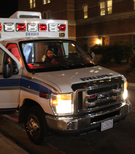 FILE PHOTO: CHARLIE LOWE/THE HOYA Construction detours caused GERMS to develop new ambulance routes.