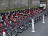 MICHELLE XU/THE HOYA D.C.'s Capital Bikeshare program offers bicycle rentals in the District.
