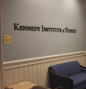 MICHELLE XU/THE HOYA The Kennedy Institute of Ethics received a $3.6 million donation.