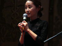 NATASHA THOMSON/THE HOYA Yeonmi Park spoke about fleeing from North Korea.