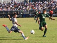FILE PHOTO: ERIN NAPIER/THE HOYA Junior defender and co-captan Keegan Rosenberry has a goal and an assist this season, including the game-winner against DePaul. He has helped the team record 10 clean sheets and allow just .53 goals per game.
