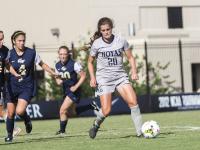 FILE PHOTO: JULIA HENNRIKUS/THE HOYA Freshman midfielder Rachel Corboz has four goals and eight assists this season, good for third on the team in points.