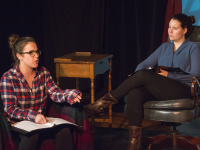 """DANIEL SMITH/THE HOYA In Mask & Bauble's new production """"Sonder,"""" normal students look beyond their projected selves to discover the true source of their identity."""