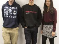 DANIELJULIA HENNRIKUS/THE HOYA  From left: Kevin Carter (SFS '16), Randy Puno (COL '16) and chair Cheryl Lau (SFS '16).