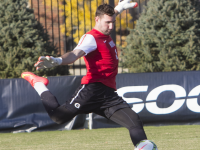 FILE PHOTO: JULIA HENNRIKUS/THE HOYA Senior goalkeeper Tomas Gomez has 10 shutouts.