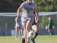 Senior forward Audra Ayotte scored two goals and added two assists in the Hoyas' overtime loss to No. 13 Virginia Tech.