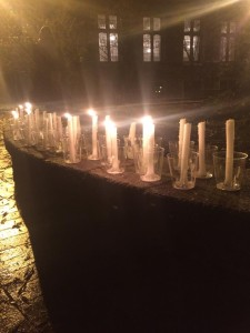 FACEBOOK Students lit candles and shared a moment of silence to grieve after the tragedy in Peshawar.