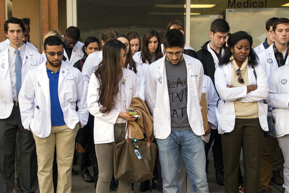 GU Medical Students Participate in White Coat Die-In Day