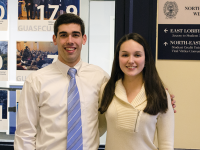 STANLEY DAI/THE HOYA GUASFCU COO Nick Diment (MSB '16), left and GUASFCU CEO Kate Ballinger, right, joined the company's board of directors in January.