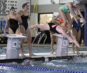 FILE PHOTO: MICHELLE LUBERTO/THE HOYA After a busy winter break that involved training and trip to Puerto Rico, the Georgetown swimming and diving team will host a meet at home.