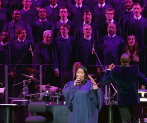 COURTESY GEORGETOWN UNIVERSITY The Let Freedom Ring Celebration Choir performed at the eponymous event at the Kennedy Center, sponsored by the university.