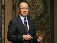 MICHELLE LUBERTO/THE HOYA World Bank Group President Jim Yong Kim spoke on the connection between economic development and an improved response to Ebola, the first event of the newly launched Global Futures Initiative.