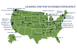 GEORGETOWN UNIVERSITY ENERGY PRIZE Fifty small cities and towns across the United States were chosen as semifinalists for the Georgetown University Energy Prize and will implement detailed energy efficiency plans over the next two years.