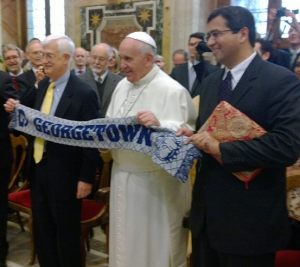 GEORGETOWN UNIVERSITY Pope Francis, the first Jesuit pope, will visit D.C. in 2015.