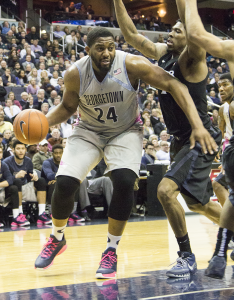 JULIA HENNRIKUS/THE HOYA Senior center Joshua Smith scored 10 points in the Hoyas' loss to Xavier on Tuesday night. Smith is averaging 12.5 points per game this season.
