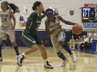 FILE PHOTO: CLAIRE SOISSON/THE HOYA Freshman guard Dorothy Adomako has started all 19 games this season. She is averaging 12.9 points, 7.3 rebounds and 26.7 minutes per game. Georgetown has lost three straight and 14 of its last 16 games, a skid stretching back to November.