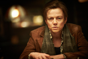 """COURTESY AROUNDMOVIES.COM Sarah Snook plays an androgynous character struggling with his sexuality in the sci-fi thriller """"Predestination."""""""