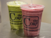 SARAH LOBER FOR THE HOYA The Hilltoss, the newest storefront of The Corp that opened in November, added six smoothies to its menu, which currently features salads. According to management, the storefront is considering adding acai bowls and extending its hours in the coming months.