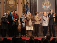FILE PHOTO: CHRIS BIEN/THE HOYA Afghan First Lady Rula Ghani, not pictured, will join the U.S.-Afghan Women's Council, which features Hillary Clinton and Laura Bush.