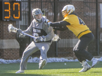 FILE PHOTO: STANLEY DAI/THE HOYA Senior attack Bo Stafford scored a career-high four goals in the Hoyas' loss to No. 2 Notre Dame on Saturday. Stafford was named to the Big East's Weekly Honor Roll in recognition of his performance.