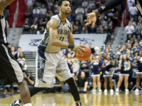 FILE PHOTO: CLAIRE SOISSON/THE HOYA Freshman forward Isaac Copeland rose to the challenge on Tuesday night, scoring 20 points and grabbing eight rebounds in 20-minutes of playing time.