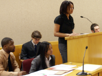FLICKR High school students participate in a mock trial competition at D.C. Superior Court to practice legal skills as part of GULC's Street Law Program.
