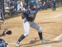 JULIA HENNRIKUS/THE HOYA Sophomore third baseman Alessandra Gargicevich-Almeida scored one of Georgetown's three runs in its 5-3 loss to Drexel on Wednesday.