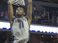 FILE PHOTO: JULIA HENNRIKUS/THE HOYA Freshman forward Isaac Copeland led Georgetown's second-half comeback attempt as he scored 11 of his 15 points in the final eight minutes of the game.