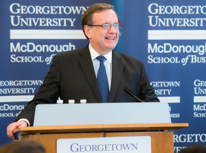 COURTESY JAMES MOORE Professor James P. Moore Jr. will direct the new Business, Society and Public Policy Initiative announced by the McDonough School of Business in partnership with the Bipartisan Policy Center.